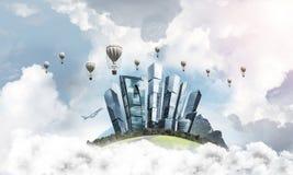 Concept het eco vriendschappelijke leven Stock Foto's