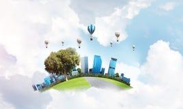 Concept het eco vriendschappelijke leven Stock Foto