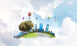 Concept het eco vriendschappelijke leven Royalty-vrije Stock Fotografie