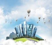 Concept het eco vriendschappelijke leven Stock Fotografie