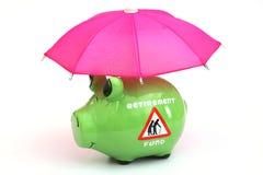Concept het fonds van pensioneringsbesparingen Stock Foto's
