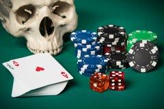 Concept het gokken Stock Afbeeldingen