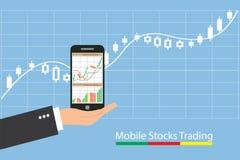 Concept het inforgraphic handeleffectenbeurs groeien royalty-vrije stock foto