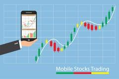 Concept het inforgraphic handeleffectenbeurs groeien Royalty-vrije Stock Afbeeldingen
