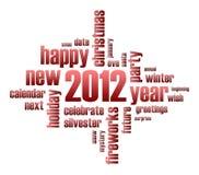 Concept het jaarthema van 2012 Stock Foto's