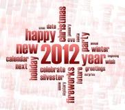 Concept het jaarthema van 2012 Stock Afbeeldingen
