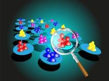 Concept het kiezen van een succesteam met meer magnifier Stock Foto's