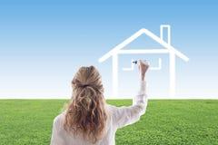 Concept het kopen van huis stock fotografie
