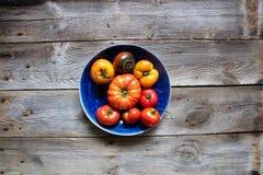 Concept het organische tuinieren, gezond de zomervoedsel over houten lijst royalty-vrije stock fotografie