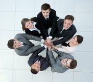 Concept het team status in een cirkel van vriendschappelijke zaken t Royalty-vrije Stock Foto