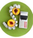 Concept het tellen van calorieën stock afbeelding
