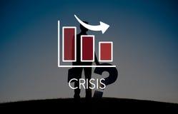 Concept het van de bedrijfs recessiedaling van Barchart Royalty-vrije Stock Afbeelding