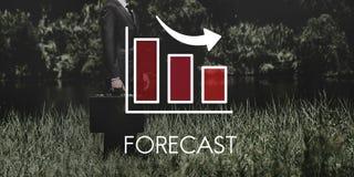 Concept het van de bedrijfs recessiedaling van Barchart Royalty-vrije Stock Afbeeldingen