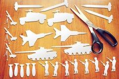 Concept het verhogen van de wapens Stock Fotografie