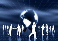 Concept het wereldwijd van het E-business vector illustratie