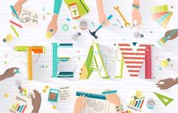 Concept het werken in team royalty-vrije illustratie