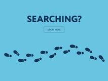 Concept het zoeken Internet-banner Begin hier vector illustratie