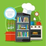 Concept het zoeken naar recepten in Web Royalty-vrije Stock Foto's