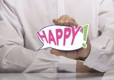 Concept heureux Photographie stock libre de droits