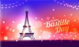 Concept heureux de célébration de jour de bastille Image stock
