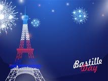 Concept heureux de célébration de jour de bastille Photographie stock libre de droits