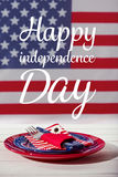 Concept heureux de dîner de Jour de la Déclaration d'Indépendance Photos libres de droits