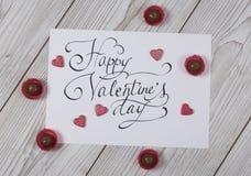 Concept heureux de jour du ` s de Valentine avec la praline Images libres de droits