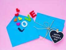 Concept heureux de lettre d'amour de jour du ` s de père Photo libre de droits