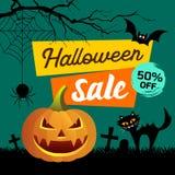 Concept heureux de présentation de ventes de Halloween Photo stock