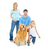 Concept heureux de relaxation de Joying de bonheur de famille photographie stock libre de droits