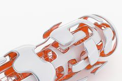 Concept Hi-Tech Technologie 3D Teruggevende Achtergrond van Abstarct Futuristick Royalty-vrije Stock Foto