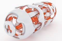 Concept Hi-Tech Technologie 3D Teruggevende Achtergrond van Abstarct Futuristick Stock Afbeeldingen