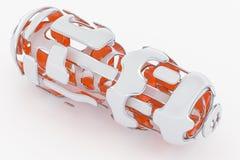 Concept Hi-Tech Technologie 3D Teruggevende Achtergrond van Abstarct Futuristick Stock Afbeelding