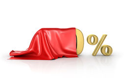 Concept of hide percent. Royalty Free Stock Images