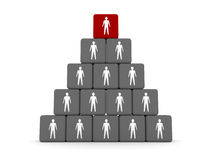 Concept of hierarchy. Leader at the top. Royalty Free Stock Photo
