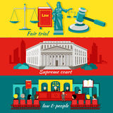 Concept High Court and Justice Stock Photos