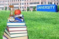 Concept of higher education Stock Photo