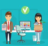 Concept of hiring a new job. The concept of hiring a new job. Young businessman approves the candidacy of a new employee. Happy people Royalty Free Stock Photo