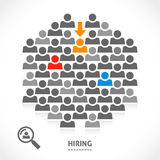Concept of hiring new vacancy. It is very hard to find a chosen one good worker Stock Photography