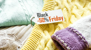 Concept holiday sales of clothes and textiles Stock Photo
