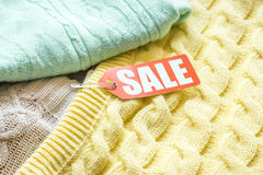 Concept holiday sales of clothes and textiles Stock Photography