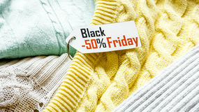 Concept holiday sales of clothes and textiles Royalty Free Stock Photos