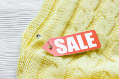 Concept holiday sales of clothes and textiles Stock Image