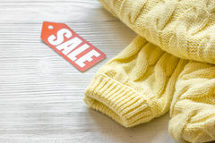 Concept holiday sales of clothes and textiles Royalty Free Stock Photography