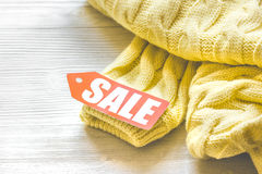 Concept holiday sales of clothes and textiles Royalty Free Stock Images