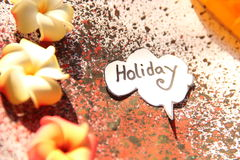 Concept of Holiday in speech bubble Stock Photo