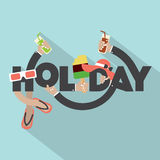Concept Of Holiday Typography Design Stock Image