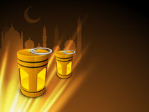 Concept for holy month Ramazan or Ramadan. Stock Image