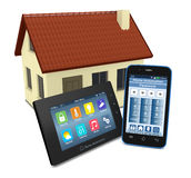 Concept of home automation Stock Photos