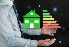 Concept of home energy efficiency royalty free stock photos